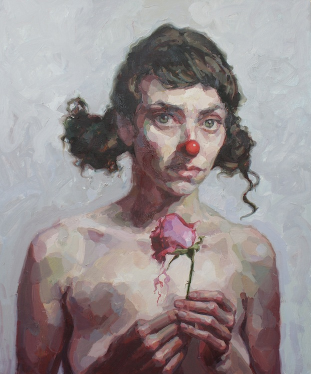 "Wilted oil on wood 36""x30""  SOLD  Juried into the 5th annual WomenPaintingWomen exhibition at the   Principle Gallery"