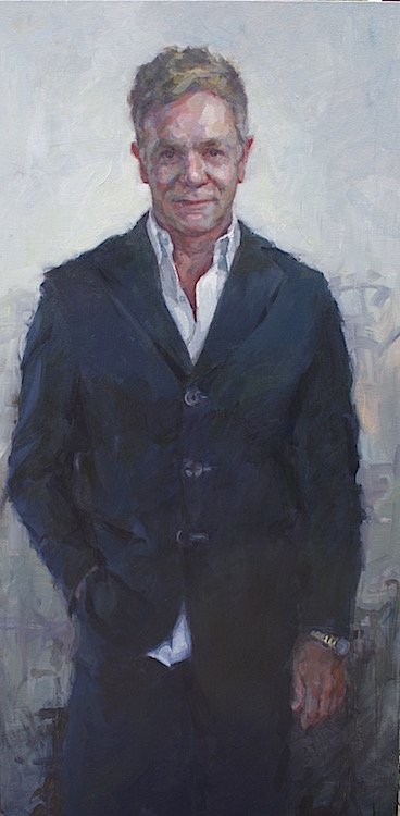 """""""Clayton"""" oil on canvas 60""""x30""""   commission"""