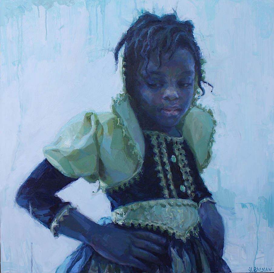 """""""When I Grow Up"""" oil on aluminum panel 24"""" x 24""""  AVAILABLE"""
