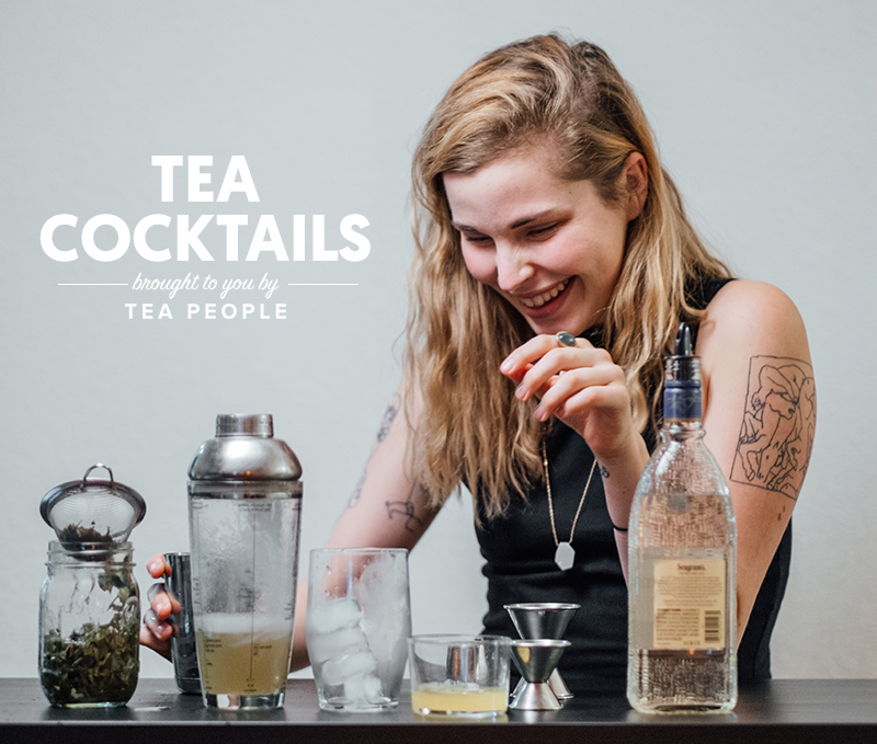 We created tea cocktails with our Coconut Green Tea. See how it's done.