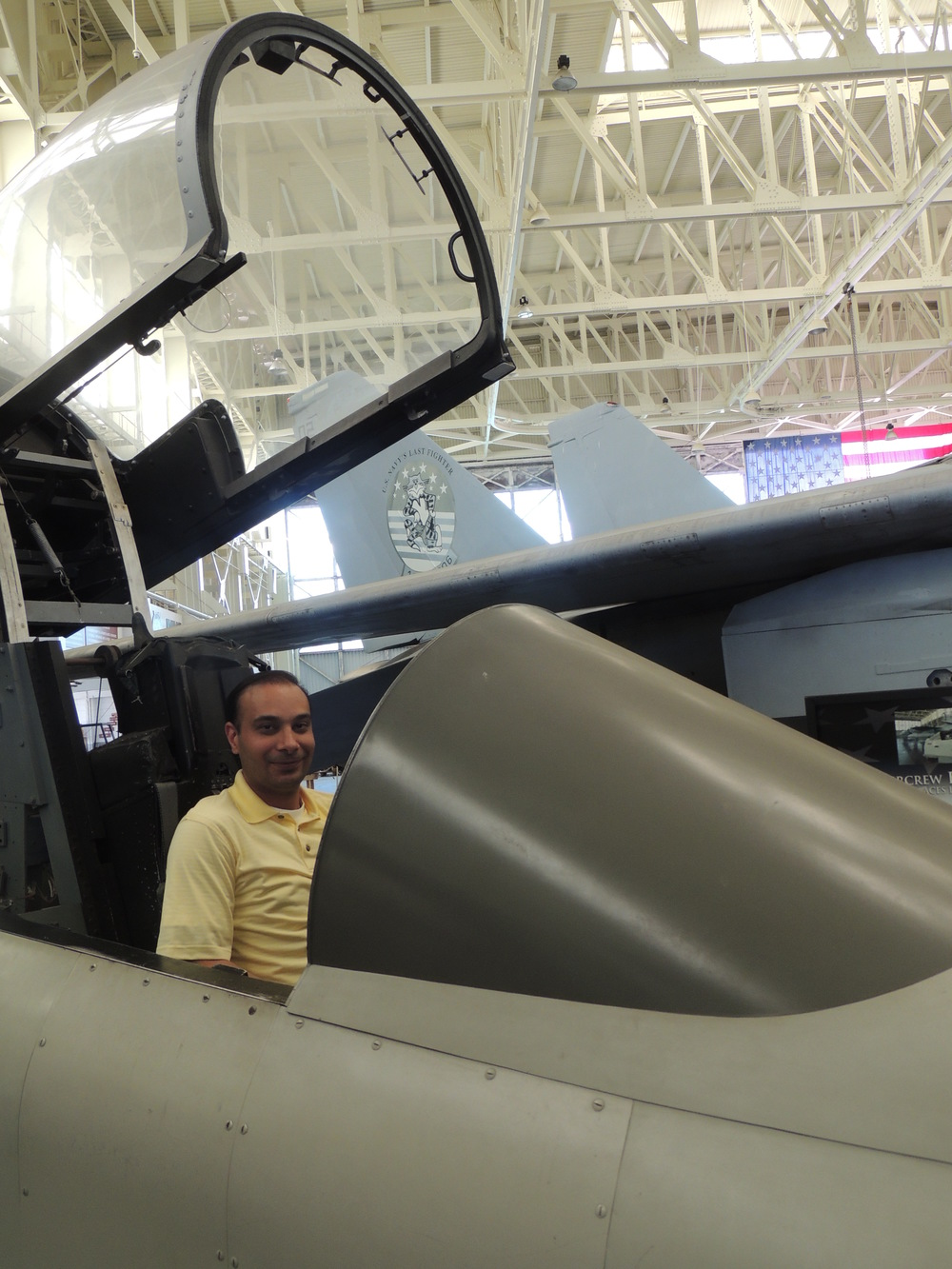 They actually let me sit in a fighter jet. Awesome!