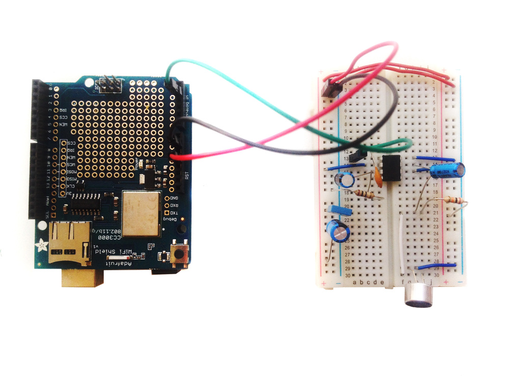Uno, CC3000, and Microphone Circuit