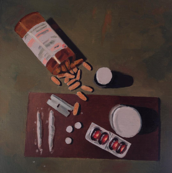 "Link   Artist: Isaac Boyle   Title: Still Life   Size: 8.5""x8.5""   Mediums: Oil Paint   W.I.P or Done: Done"