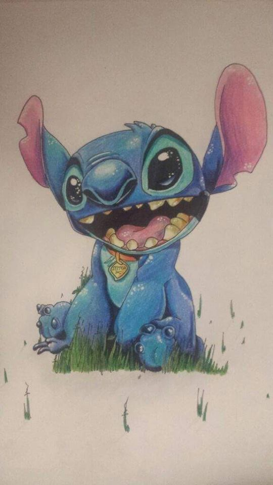 Artist: Daniel Byrne  Titile : Stitch  Size: 8in X 11in  Mediums: Color Pencil & Pen  W.I.P or Done: Done