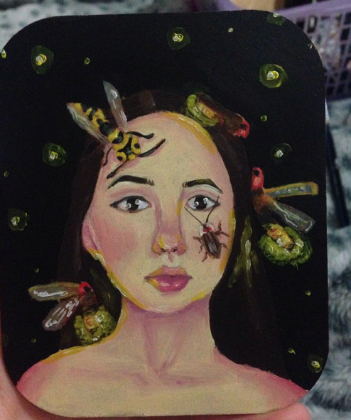 Instagram  Artist: Bubxbae Title: bright future ahead Size: 11cm x 9cm  Mediums: oil paint W.I.P or Done: Done