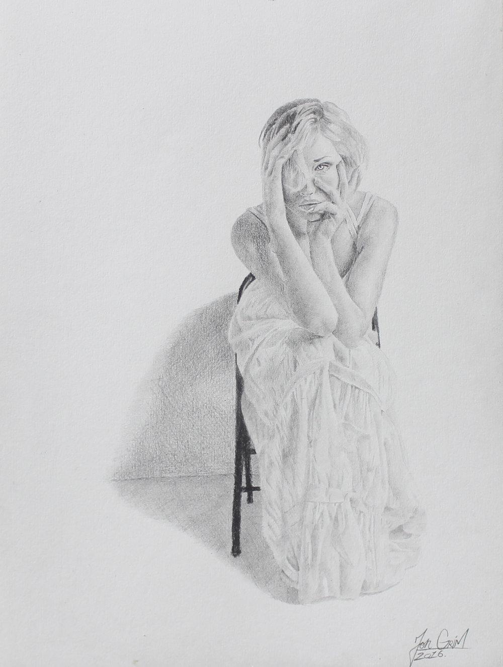 "Size:9""x 12""  Pencil  2016   Medel"