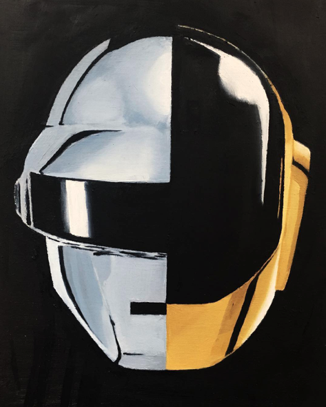 Instagram  Artist: Gren Titile :  Daft Punk  Size: - Mediums: Oil Paint W.I.P or Done: Done