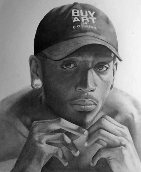 "Instagram    Speed Painting  Artist: Donte Sherill Titile : - Size: 18""x24""  Mediums: Graphite pencil W.I.P or Done: Done"