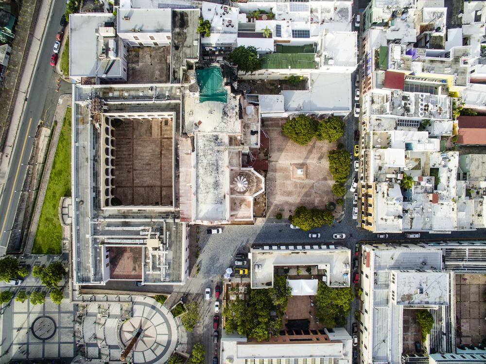 San Juan, Puerto Rico. Drone aerial photo.