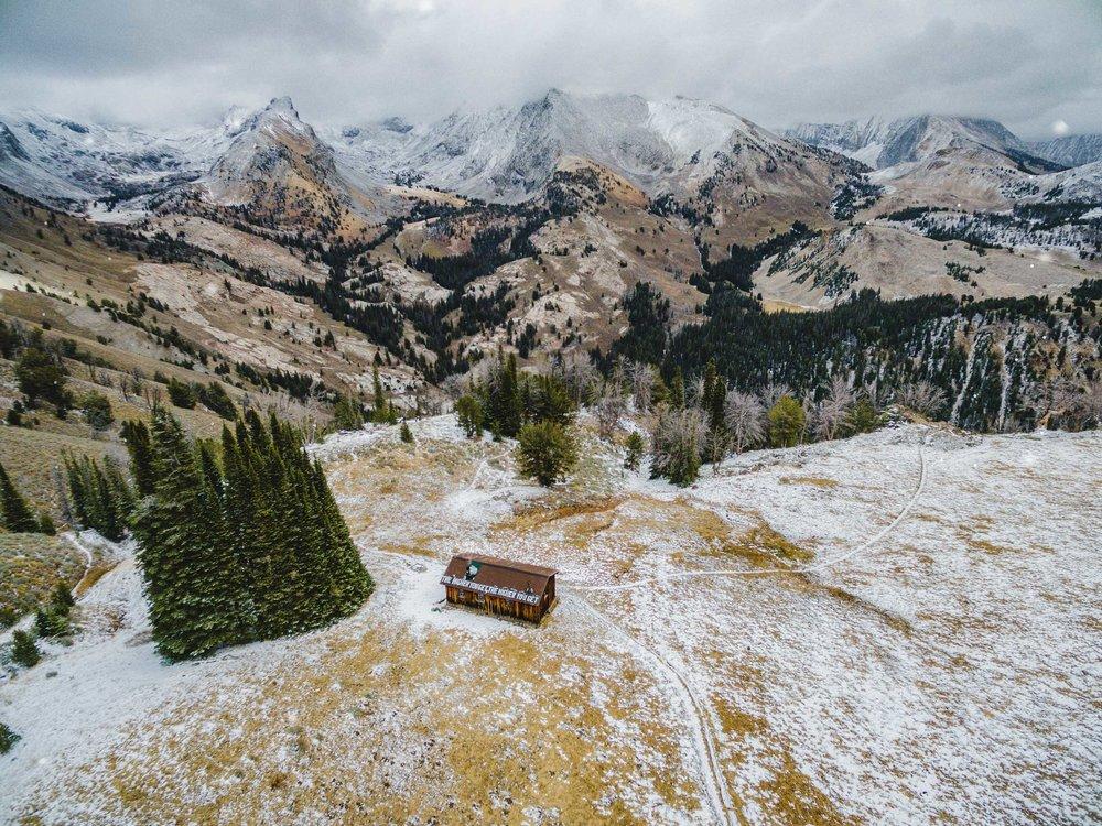 pioneer cabin drone aerial