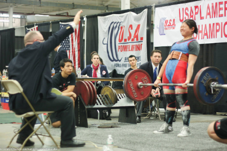 Alice in one of her earlier meets the 2013 American Open