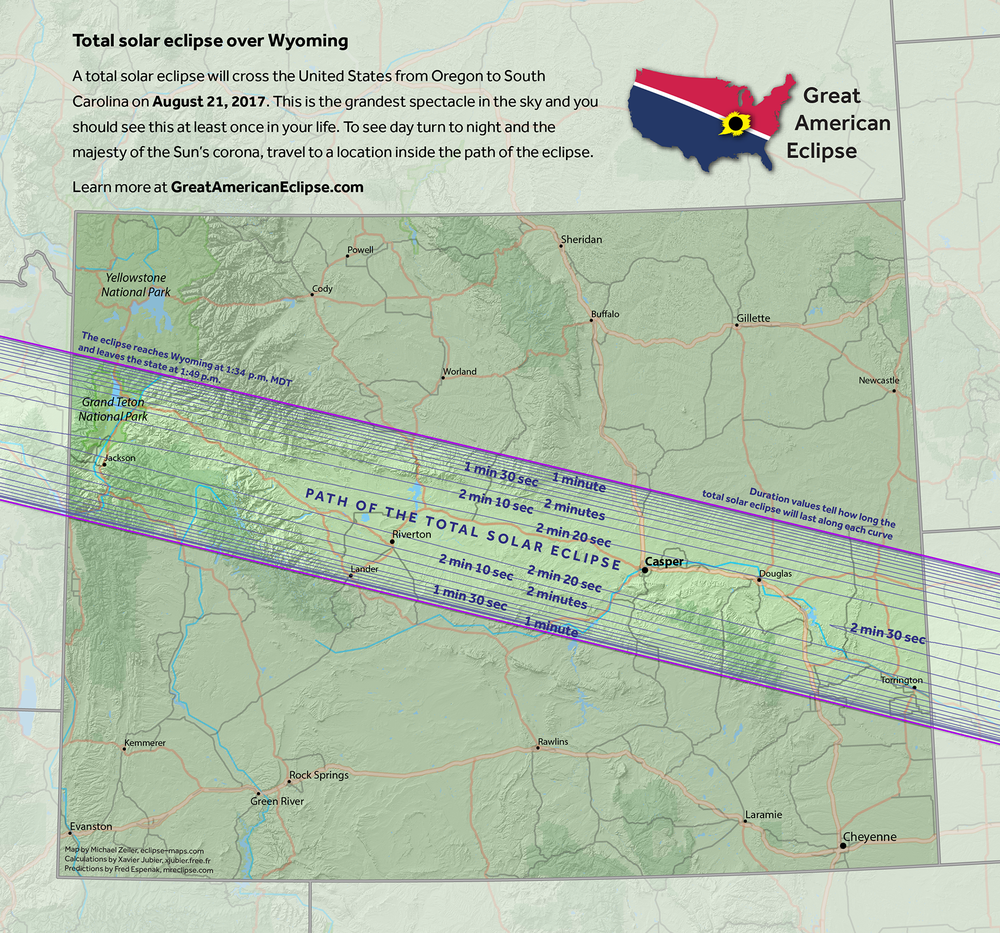 Wyoming  Total Solar Eclipse Of Aug 21 2017 The Great