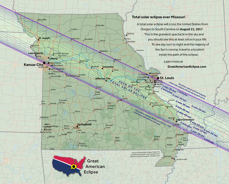 Missouri Eclipse Path