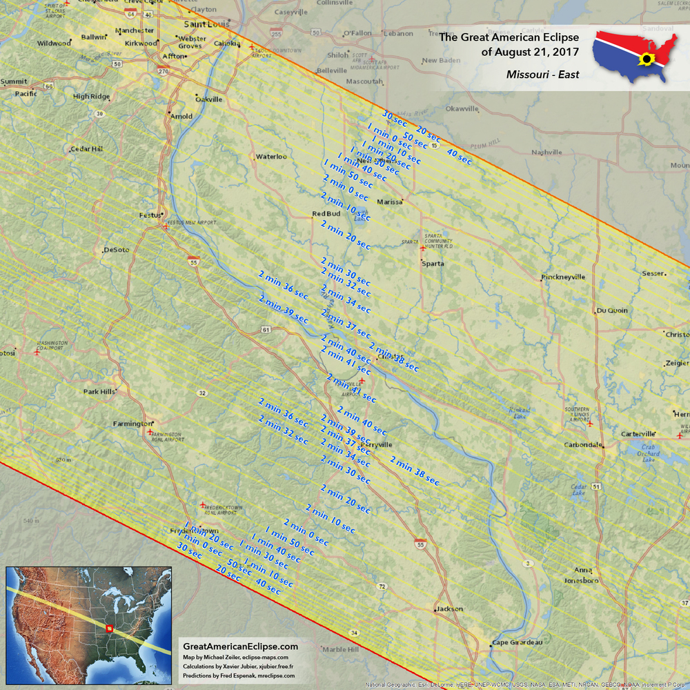 Missouri — Total solar eclipse of Aug 21, 2017, the Great ...