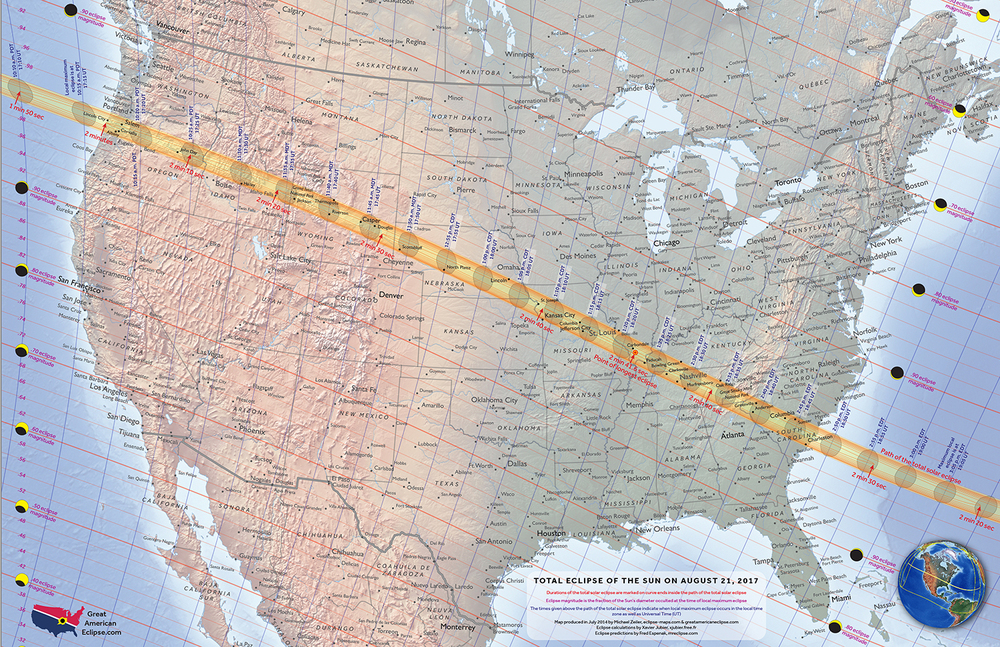National maps — Total solar eclipse of Aug 21, 2017