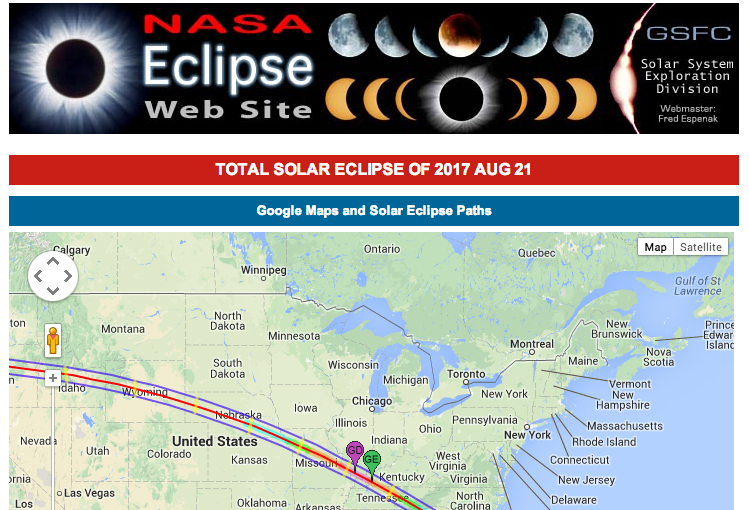 Future Eclipses Total Solar Eclipse Of Aug - Us total eclipse 2017 map
