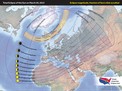 The total solar eclipse 2015