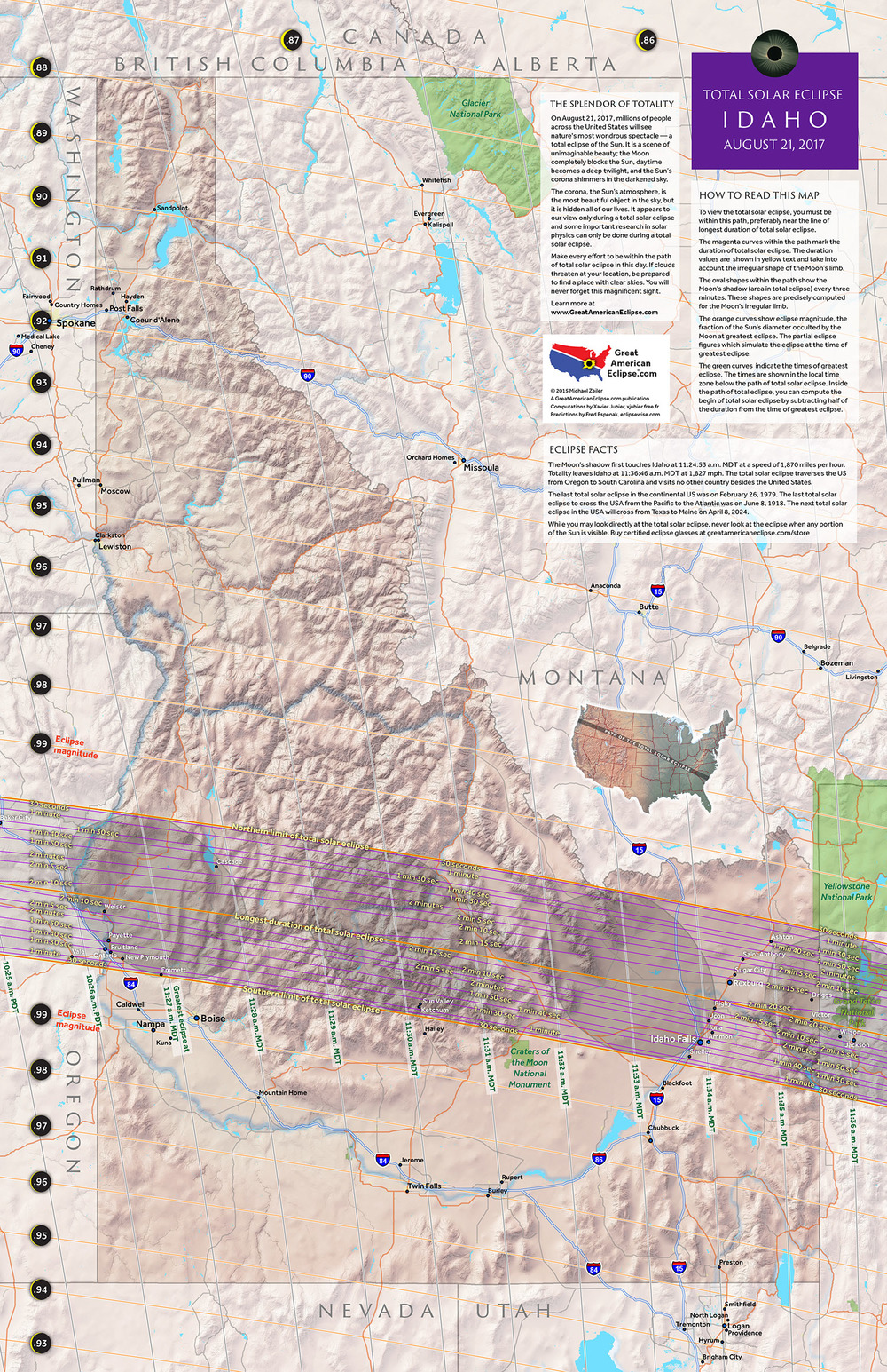 Idaho State Map Total Solar Eclipse Of Aug - Map idaho