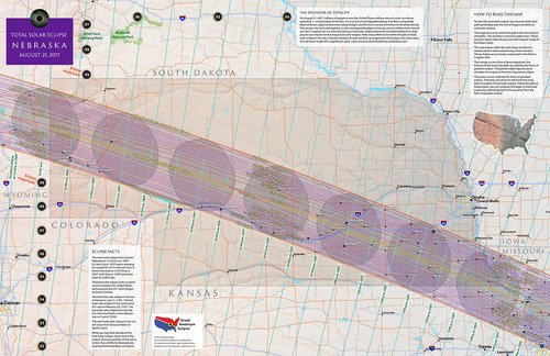 Nebraska State Map Total Solar Eclipse Of Aug - State map of nebraska