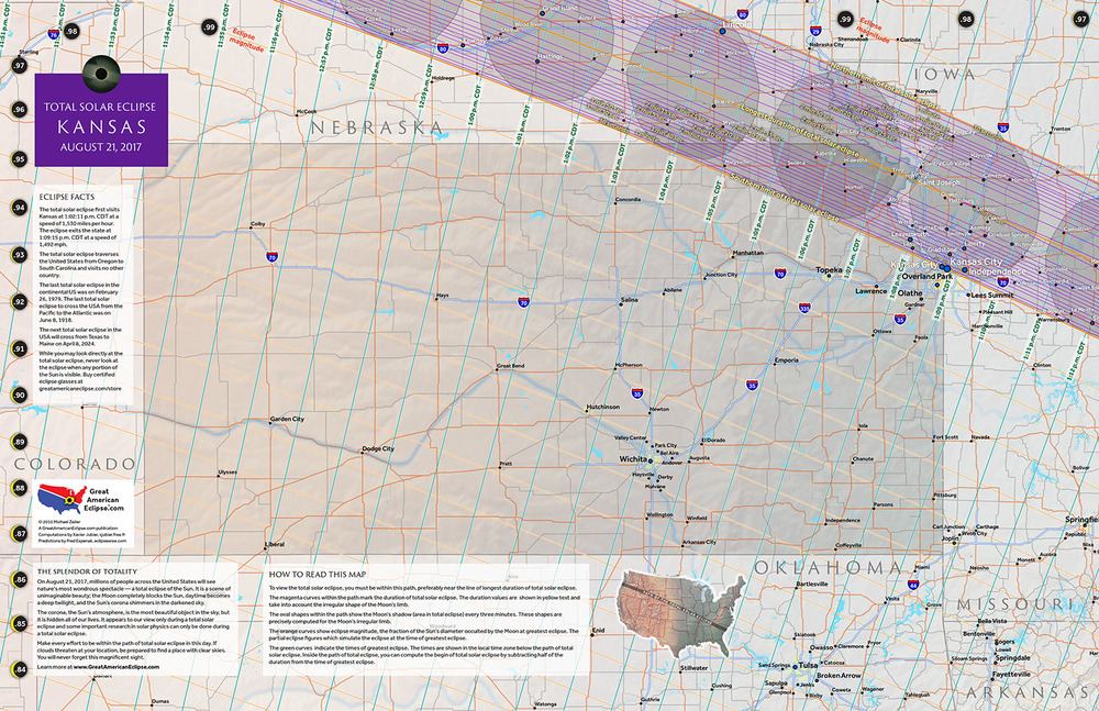 Kansas State Map Total Solar Eclipse Of Aug - Map of kansas