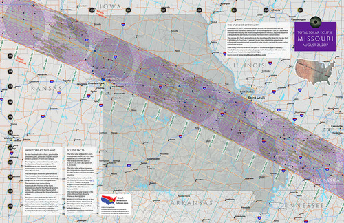Missouri State Map Total Solar Eclipse Of Aug - Missouri map