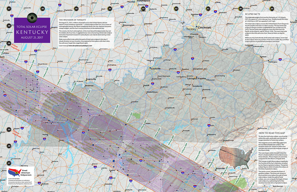 Kentucky State Map Total Solar Eclipse Of Aug - Map kentucky