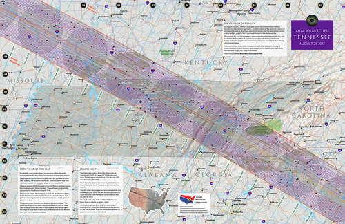Tennessee State Map Total Solar Eclipse Of Aug - Tn state map