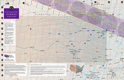 "Click to buy 11"" by 17"" detailed eclipse map of kansas"