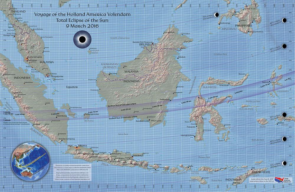 Click to purchase souvenir map highlighting Volendam cruise