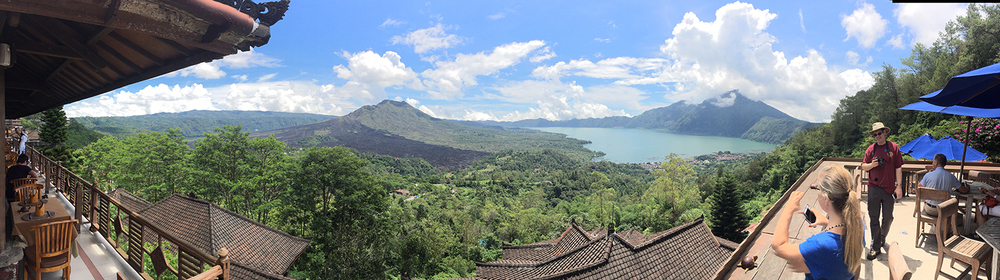 Lake Batur inside the caldera of Batur volcano on the island of bali