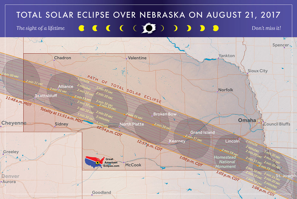 Nebraska Eclipse Total Solar Eclipse Of Aug 21 2017