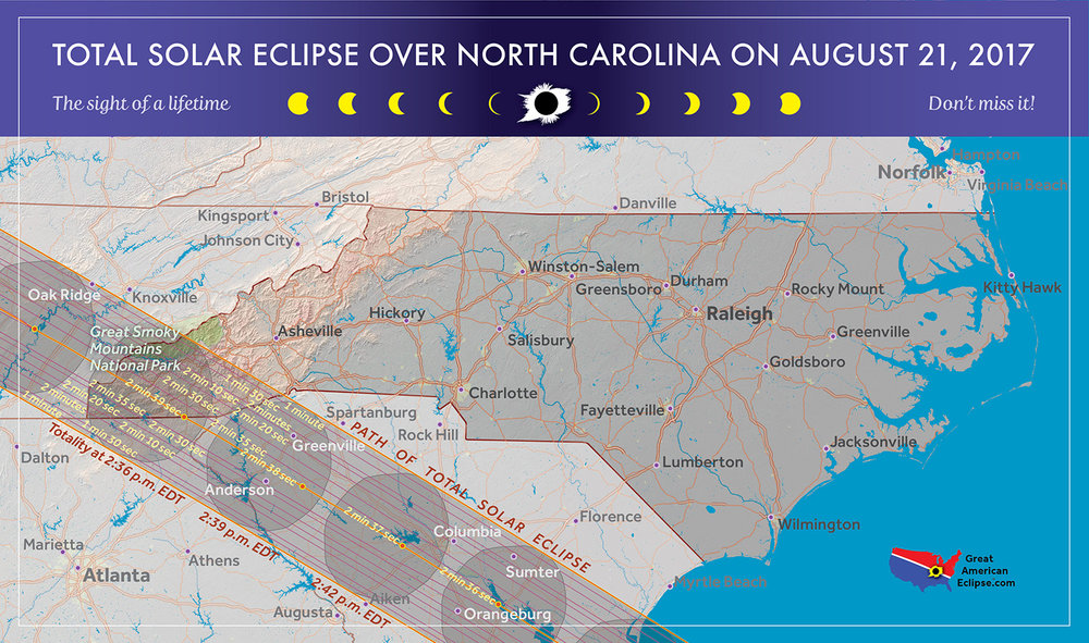 The Great Smokey Mountains National Park is one of three national parks visited by the total solar eclipse.
