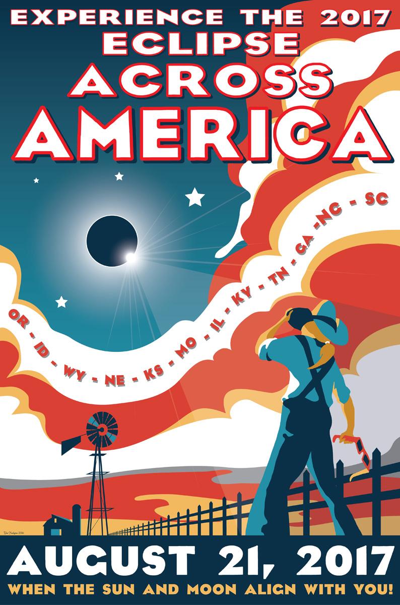 Poster design 2017 - Eclipse Across America Jpg