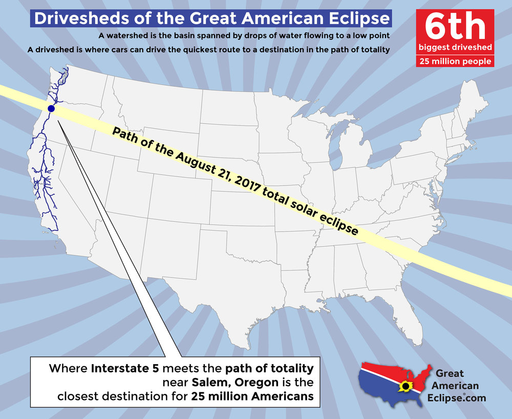 Statistics Total Solar Eclipse Of Aug - Portland oregon on the us map