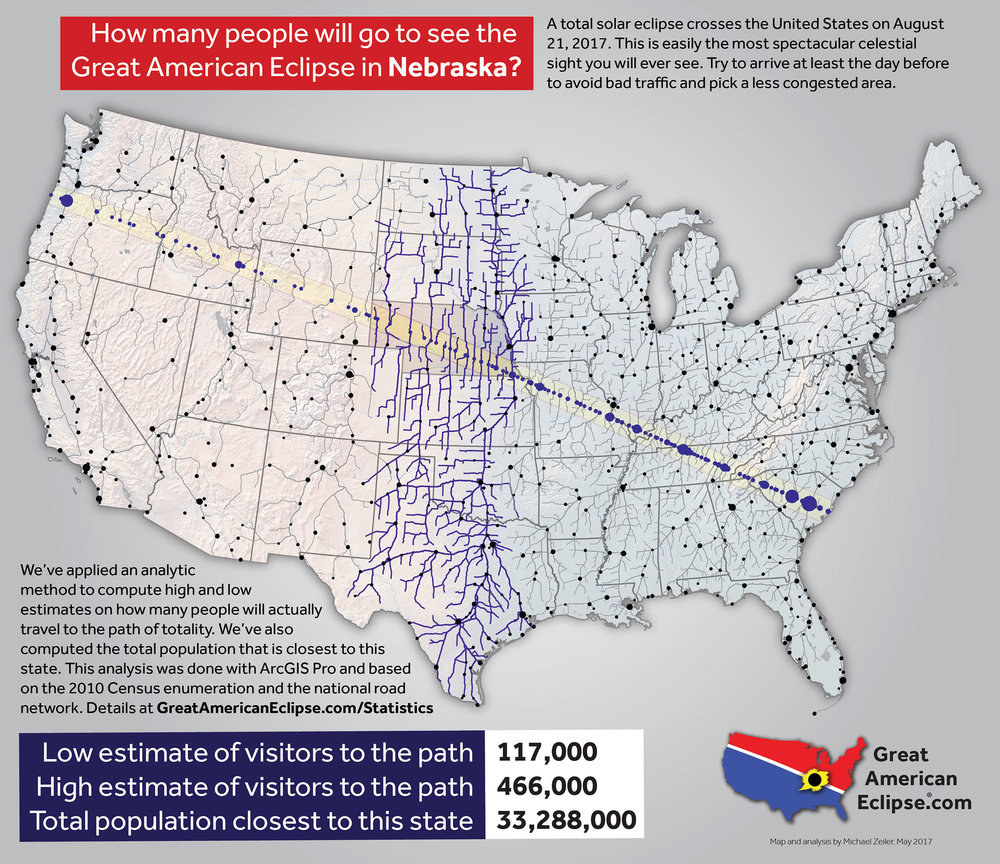 Statistics Total Solar Eclipse Of Aug - Nebraska on the us map