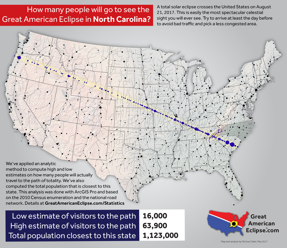 Solar Eclipse 2017 Highway Traffic Map.Statistics Total Solar Eclipse Of Aug 21 2017