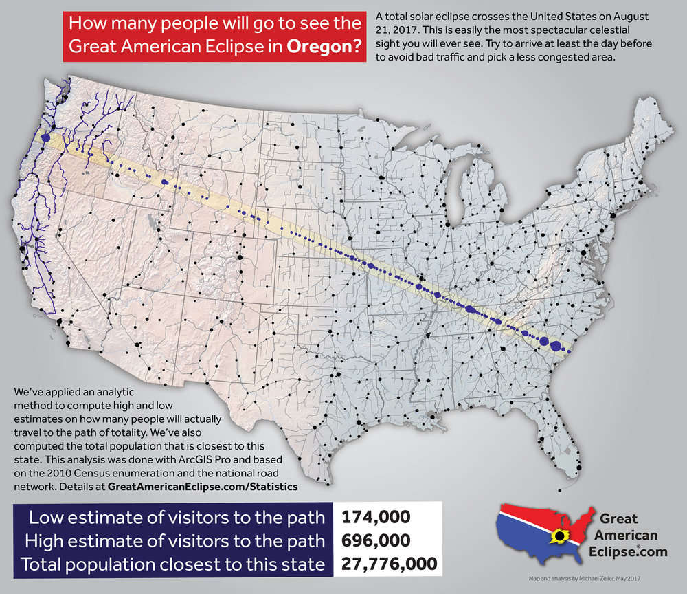Oregon Eclipse Total Solar Eclipse Of Aug - Portland oregon on the us map