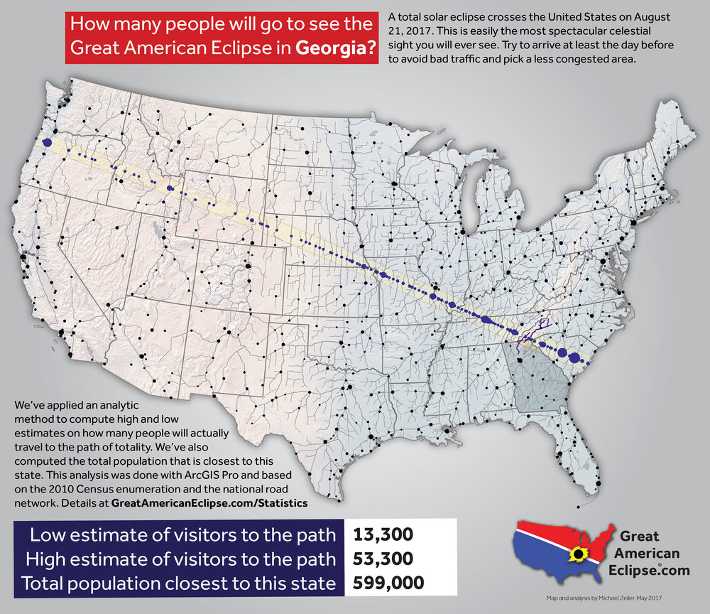 Georgia Eclipse Total Solar Eclipse Of Aug - Maps of georgia usa