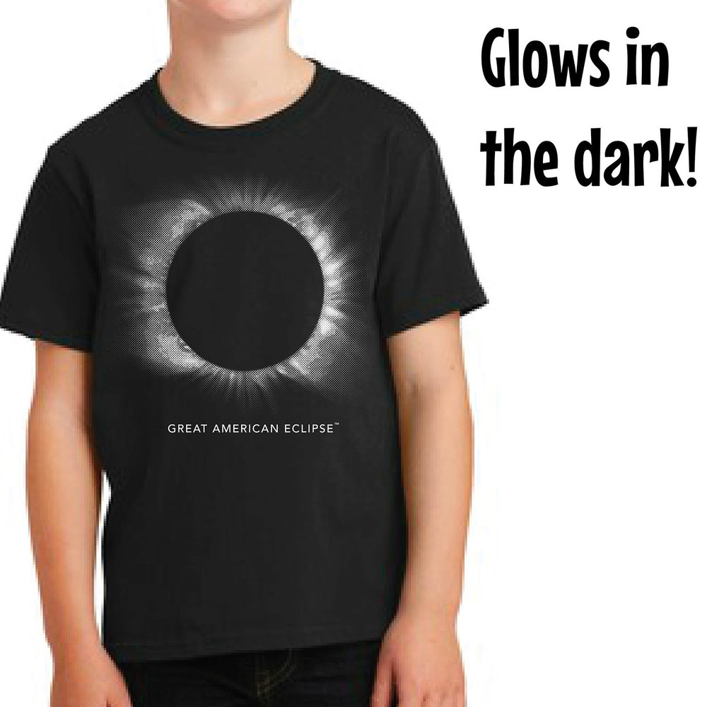 Glow In The Dark Youth Corona Shirt Total Solar Eclipse Of April