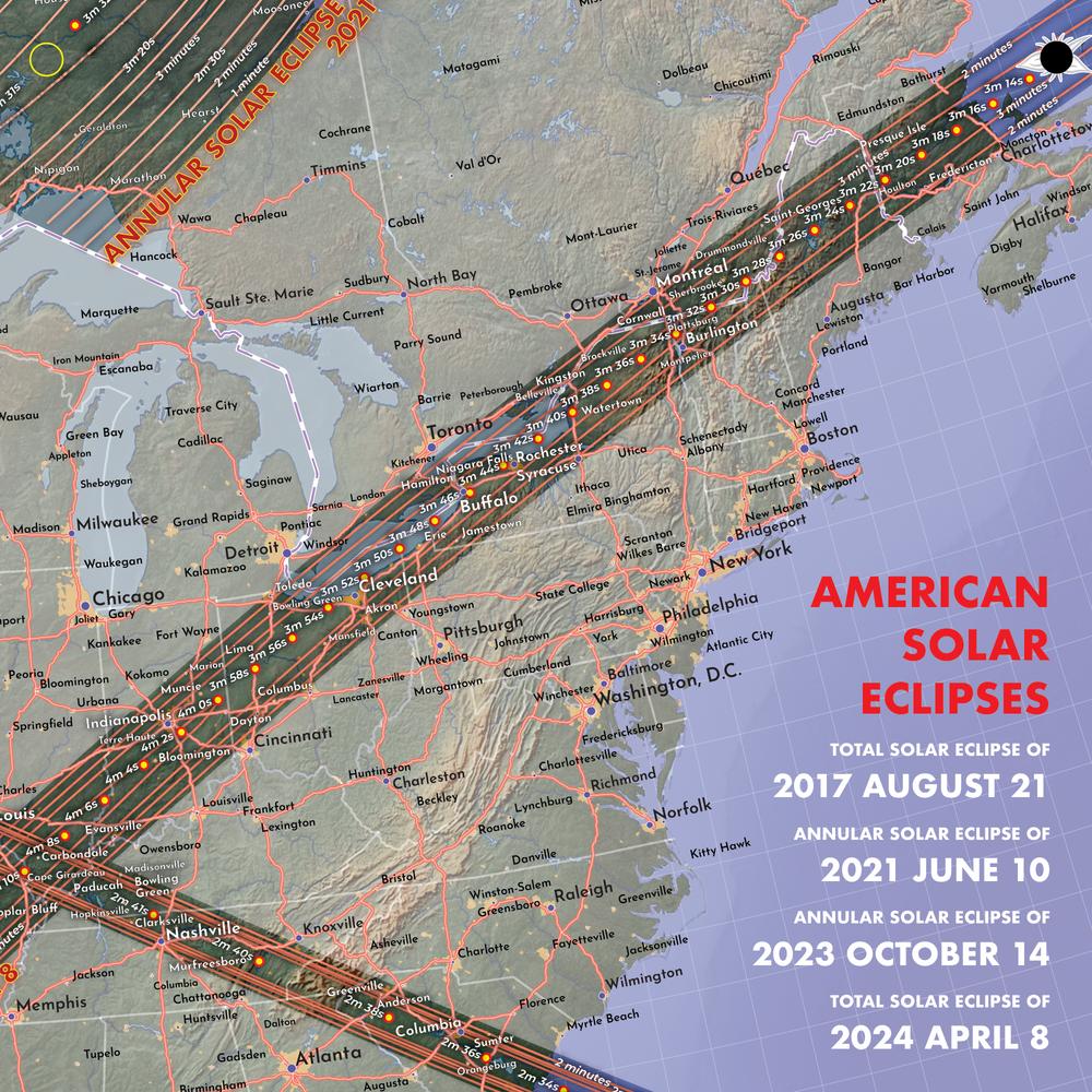 April 8, 2024 — Total solar eclipse of April 8, 2024