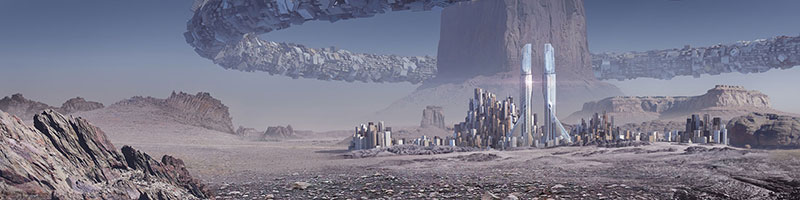"""Monolith City"" by August 2014 artist, David Luong. Enter his art store here!"
