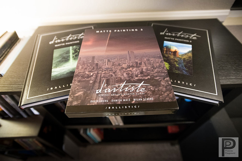 d'Artiste: Matte Panting vol. 3 book, co-authored by David Luong with tutorials on digital matte paintings, sold here.