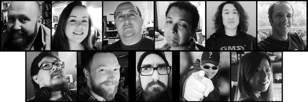 The White Out Art Collective: Patrick, Jessica, Paul, Ishmael, Daehi, Andy, Jon, Matt, Kevin,John, and Lianna.