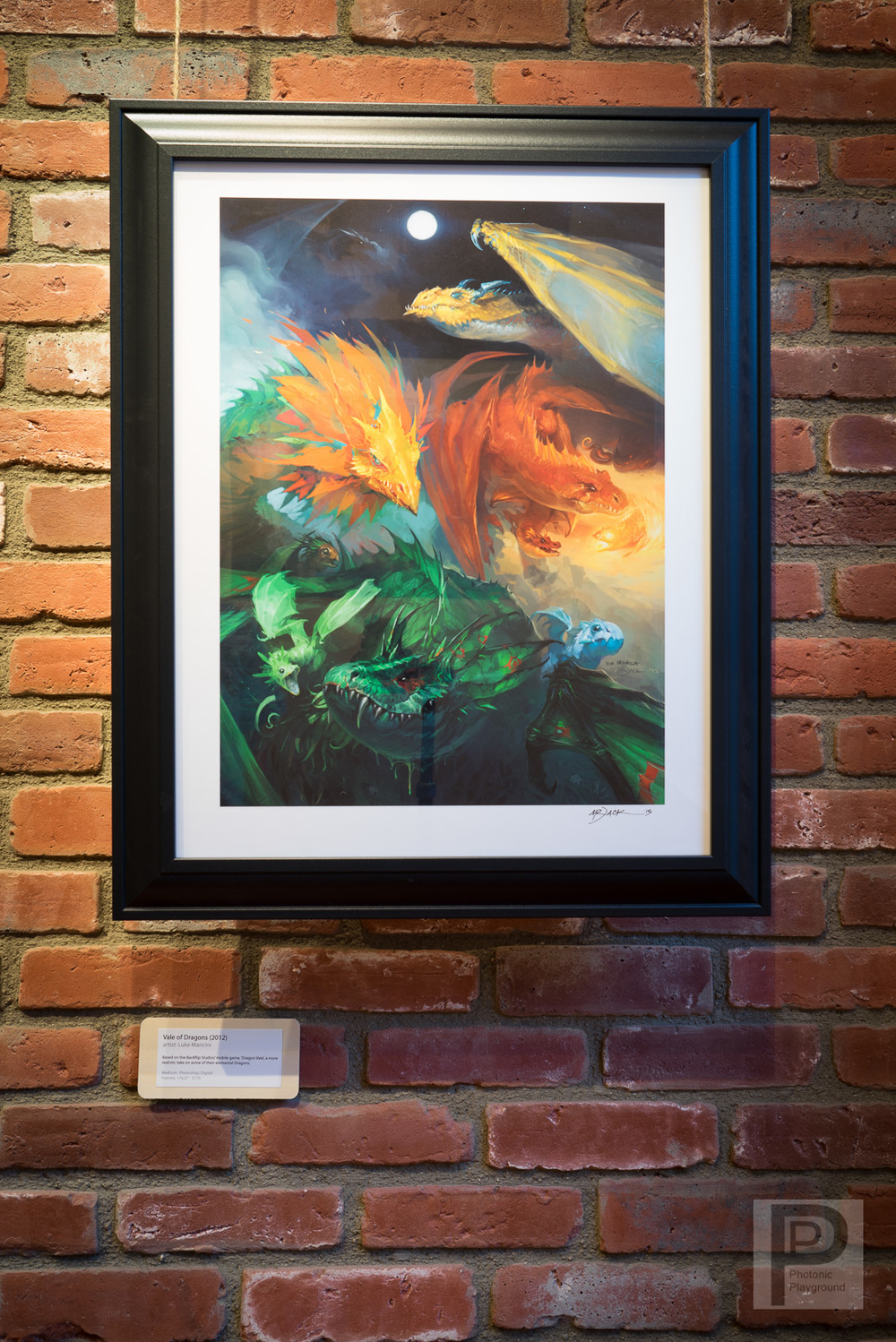"""Vale of Dragons"" (framed)"
