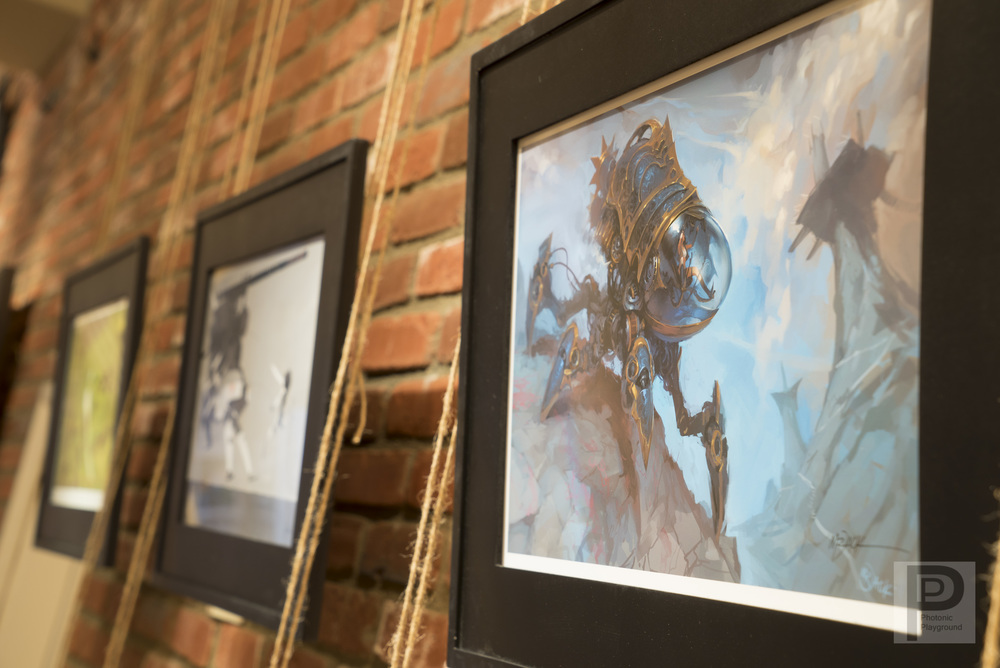Luke 'Mr. Jack' Mancini, Xin Xanadu Wang and Charles Lee exhibit their personal art for April/May 2015.