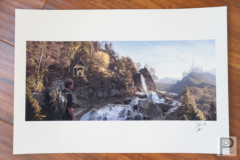 """Ivory Castle""  gic  lé  e 13x19"" print"