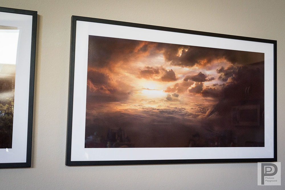 "Framed/matted gallery art of ""Horizon of Heaven"""