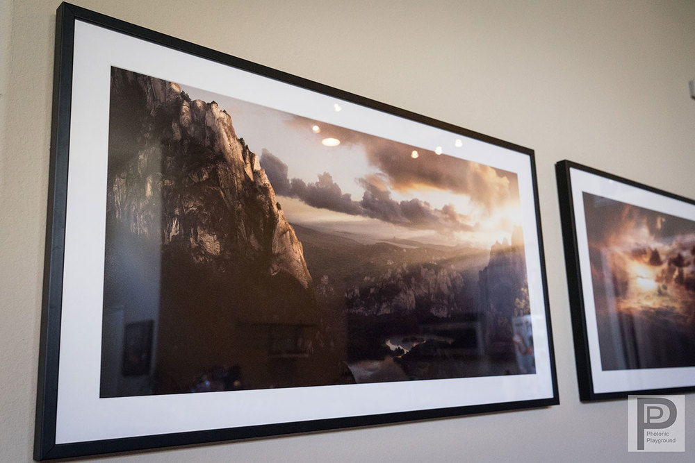 "Framed/matted gallery art of ""Hidden Valley"""