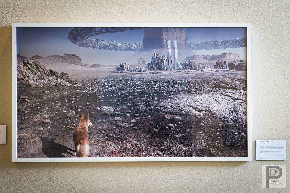"Framed gallery art of ""Monolith City"""