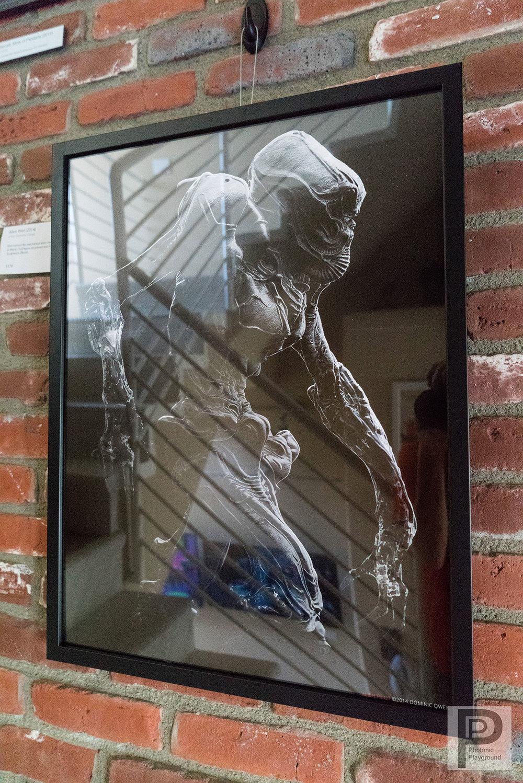 """""""Alien Pilot"""" framed 17x22"""" print"""